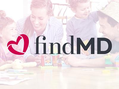 FindMD Logo identity doctor healthcare health branding logo typography