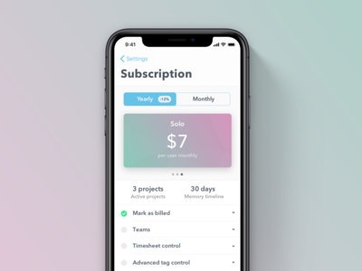 Timely iOS Subscriptions