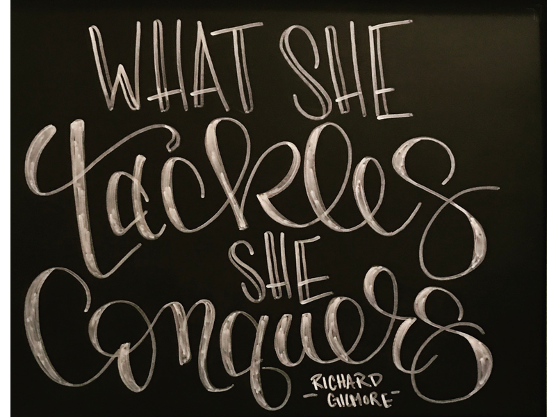 what she tackles  she conquers by monika perkerwicz