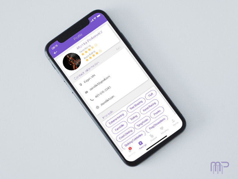 Daily UI #006: User Profile ux user ui interface graphic experience design uxdesign userinterface 100daychallenge uidesign dailyui