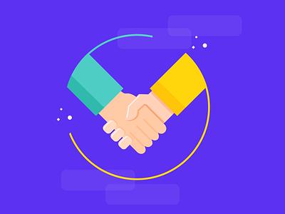 Hand Shaking handshaking shaking hand icon