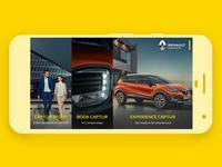 Renault Captur App Home Screen