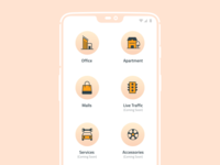 Services Screen for Parkwheels App