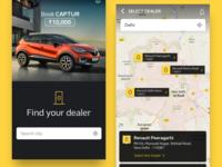 Dealer Locate UI for Renault Captur