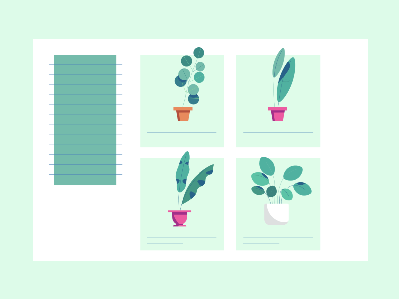 Plant CMS peaf plants illustration animation ui plant