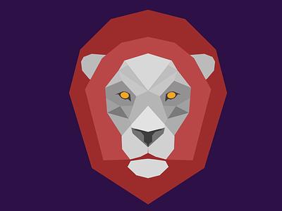 Lion low poly lion