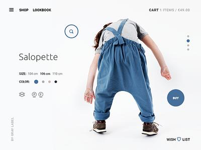 e-commerce fashion website interface e-commerce shop online