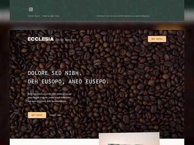 Ecclesia Coffee Roasters UI landing page elementor figma branding ux design animation ui