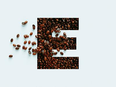 """Ecclesia Coffee Roasters """"E"""" vector logo design branding"""