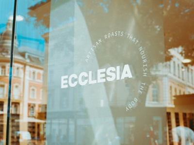 Ecclesia Coffee Roasters Signage vector logo design branding