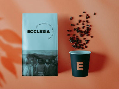 Ecclesia Coffee Roasters Packaging Concept coffee package design packaging vector logo design branding