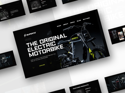 SUPER73 flat minimal animation typography website web ui ux design