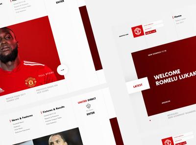 Manutd.com Conept website web ux ui design