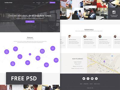 Collabo-Orbit - Coworking Free Psd Web Template psd ui web template web design photoshop freebie free free psd
