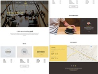 Be Latte - Coffee shop free PSD web template