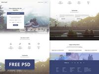 PSD Freebie - Blind Cupid Dating Site Web Template dating site ui web template web design photoshop freebie free psd