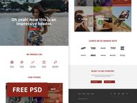 On Target - Marketing Agency Web Template marketing web design photoshop web template free freebie psd