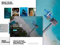 Explore Maldives – Free travel agency web template travel traveling the maldives travel agency ui design web template web design free freebie