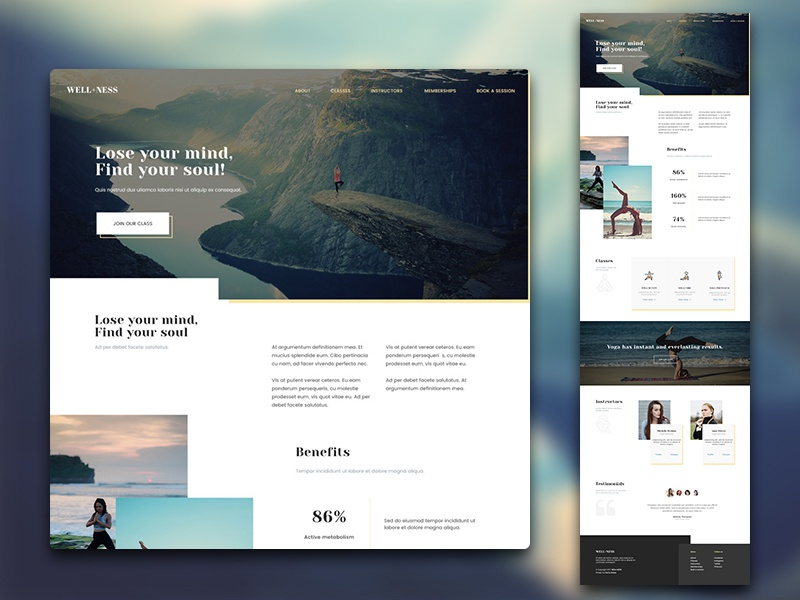 Download Week 2/52: Well+ness – Free Yoga studio web template