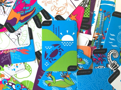 AIGA DFW Go Fish Deck seafood crab playing cards aiga cards go fish