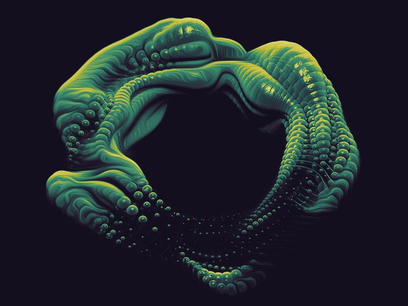 Alien organic sculpture sci-fi alien cinema