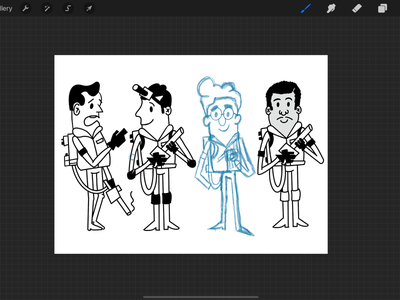 Ghostbusters in Procreate texas fort worth characters drawing ghostbusters procreate illustration