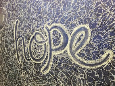 Chalk Art For Salvation Army hand drawn charity hope typography type chalk