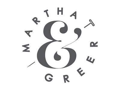 Martha & Greer Brandmark fort worth texas wardrobe tailor pin t-pin ampersand branding clothing sewing logo