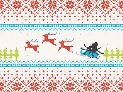 Holiday Wallpaper Desktop (Full View) christmas sweater holiday wallpaper vector brand illustration