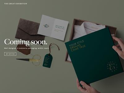 E-commerce packaging design within reach business texas branding website packaging design