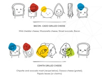 Grill Cheese Recipe Illustrations part 2