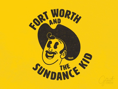 Fort Worth Sundance retro kid sun fort worth vector typography yellow vintage illustration texas