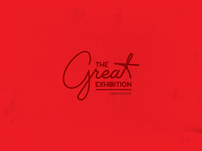 The Great Exhibition (logo No.1) midcentury handwriting typography script mid century vintage texas logo