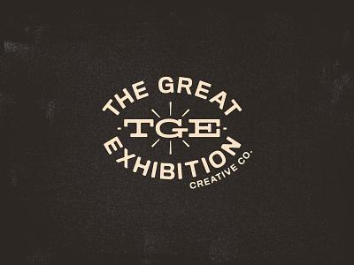 The Great Exhibition (logo No.2) typography mid century fort worth brand vintage midcentury branding logo texas