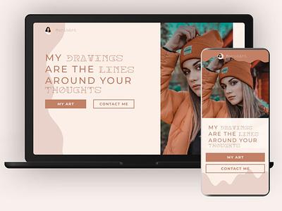 MariaArt web art website mobile ux ui branding typography minimal design