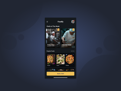 Foodfy a book your private chef App app mobile branding food app food visual design product ux ui design