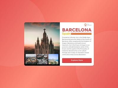 morning warm up #28 web design visual design ux ui product landing page travel design clean