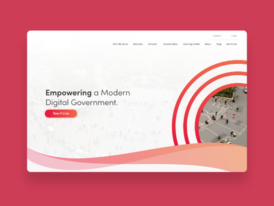 Homepage design in the works. home page ux ui project agency government orange pink colors design web