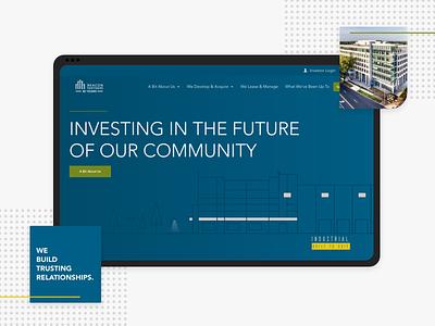 Beacon Partners Site Redesign. landing page charlotte real estate illustration explore ui web design ux design