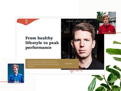 Improve Your Mindset eSports Psychologist psychology esports games explore clean visual design web design ui design