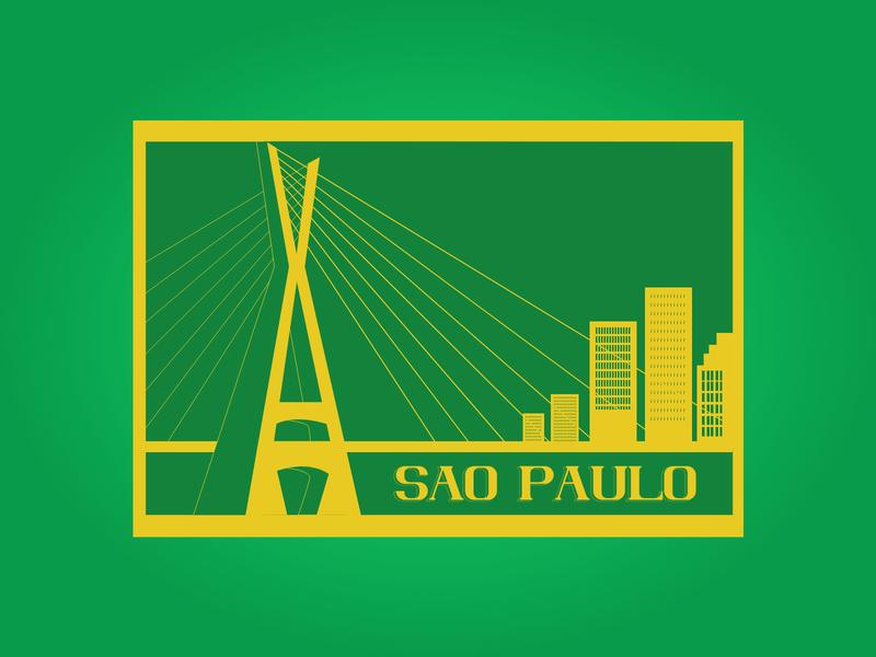 Weekly Challenge - Sao Paulo challenges sao paulo visual design vector illustration design dribbbleweeklywarmup