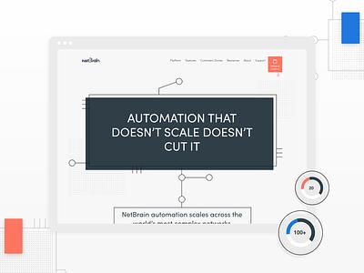 NetBrain new website is LIVE. technology tech explore landing page visual design web design ux ui design