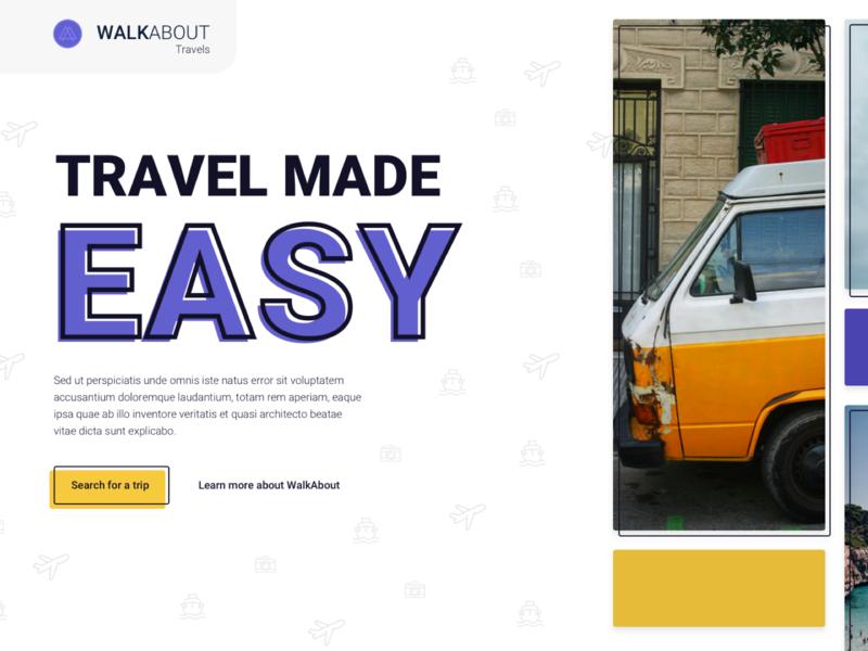 Travel Feels branding travel explore landing page visual design product web design ux ui design