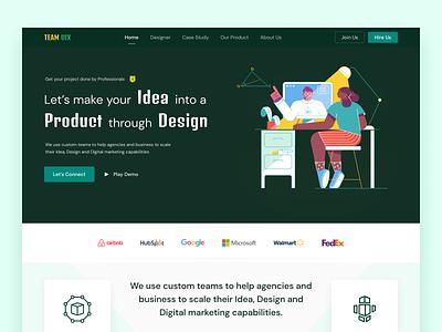 TEAM UIX Design Agency Website Design designconcept designideas designtrend webdesigner hireus services business company minimalism illustration uiuxdesign webuiux agencywebsite designagency webdesign website graphic design ui