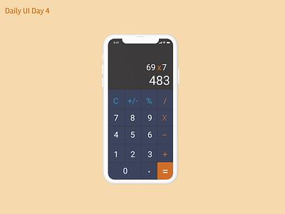 Calculator design ux ui dailyuichallenge figma