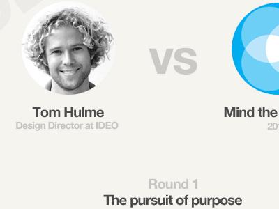 Round 1 The pursuit of purpose vs versus ui product design