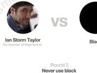 Round 2 Never use black