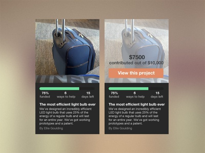Vivavim rebound ui design web website rebound donate progress
