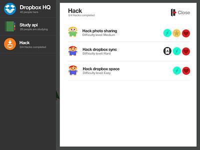 Hackerville game learn code illustration dropbox hack
