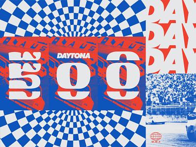 Daytona 500 No.2 imagery car racing racecar daytona blue and white red blue america